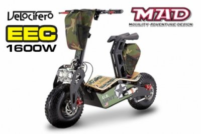 NEW! Velocifero MAD 1600W EEC E-Scooter